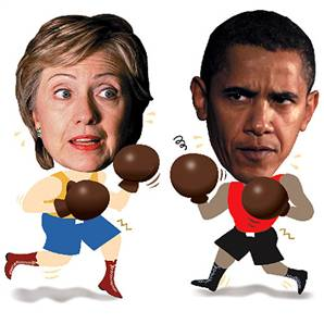 hillary Obamas Tightrope Act