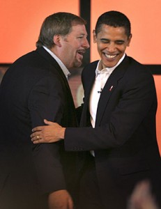 obama and rick warren1 231x300 TWO Distressed Over Barack Obama Selection of Divisive Televangelist Rick Warren
