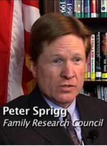 Sprigg 221x300 U.S. Job Site Bans Bias Over Gender Identity; Anti Gay Nuts Crack Over Change