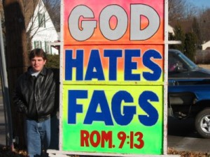 god hates fags 12 25 20021 300x225 Fred Phelps Clan Goes After Lady GaGa
