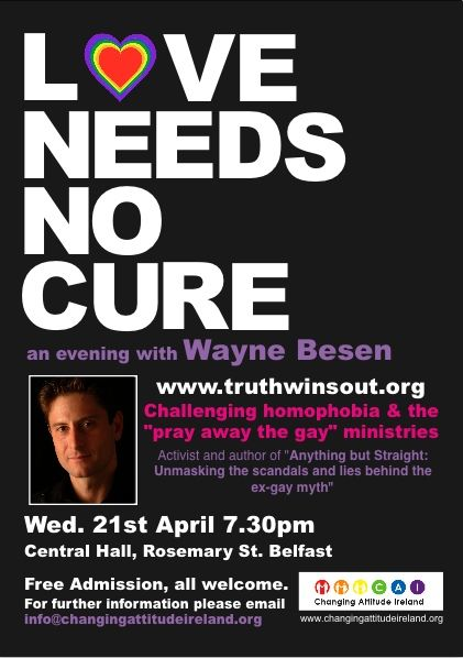 Wayne e flyer1 POSTPONED    Love Needs No Cure    Belfast  