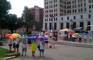 Pro-equality demonstration, Albany, New York, July 2010