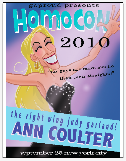 ann GOProuds Homocon Convention Headlined by Gay Baiting Ann Coulter