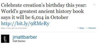 MattBarberTweet Matt Barber Is a Young Earth Creationist?