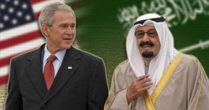 Saudi Arabia King Abdullah and President Bush 300x158  Why America Isnt Winning the War On Terror