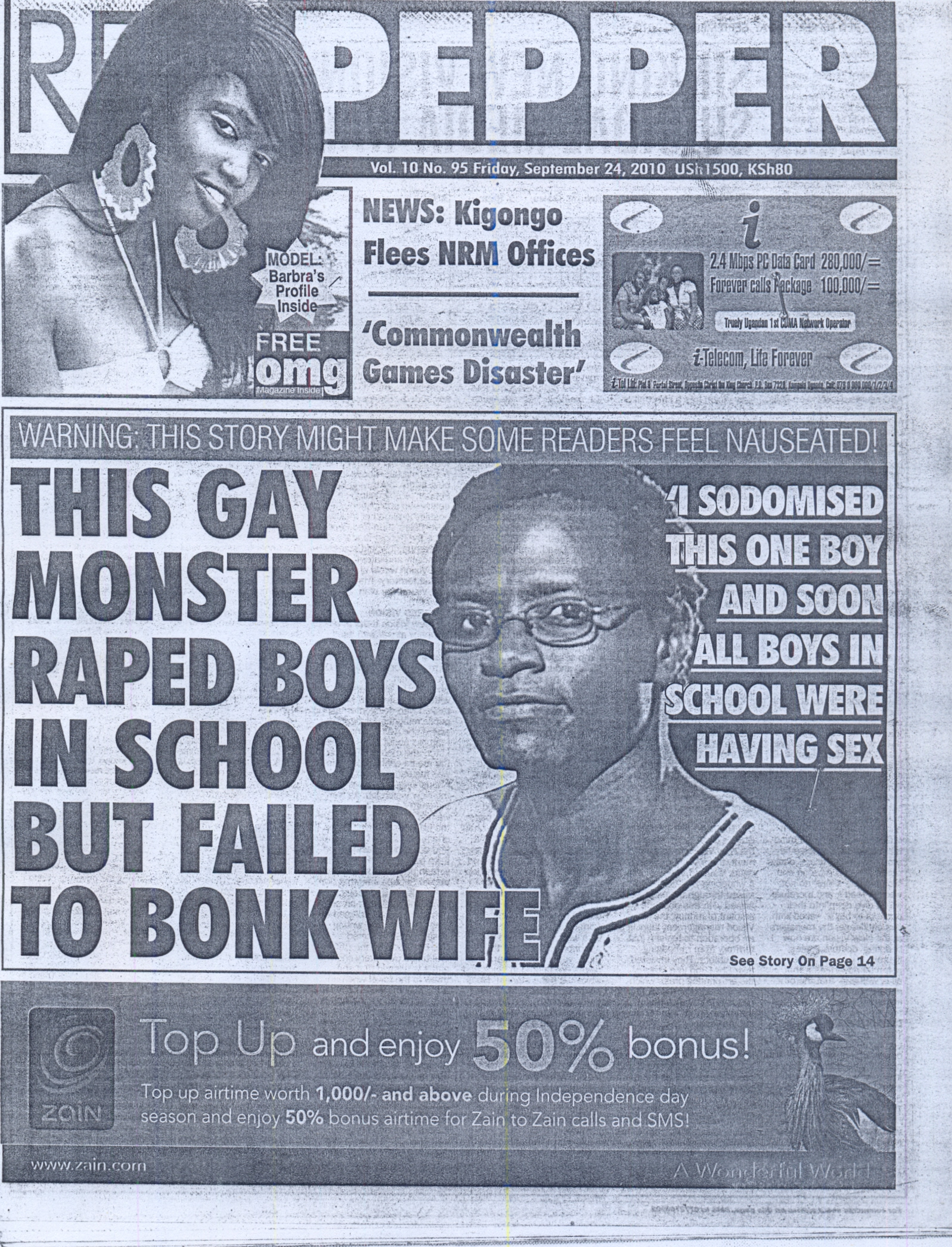 redpepper article 1 Newspaper Seeks Revenge On Ugandan LGBT Hero Moses Mworeko After He Appears In TWO Video