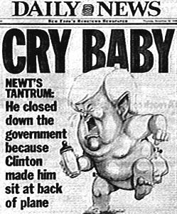 Newt Gingrich Cry Baby Post Cry Baby: Gingrich Wont Be In Debates Moderated by Olbermann or Matthews