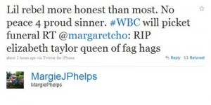 WBCTweet 300x150 Westboro Baptist Will Picket Liz Taylors Funeral