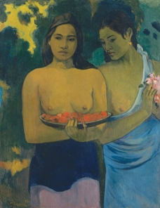 gauguin Lady Gets Mad at Painting That Seems Gay, Attacks It