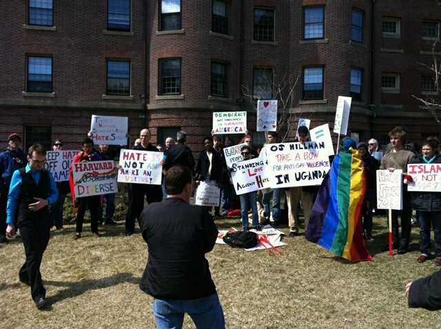 harvard protest Pictures from Todays Truth Wins Out/Join the Impact MA Protest at Harvard