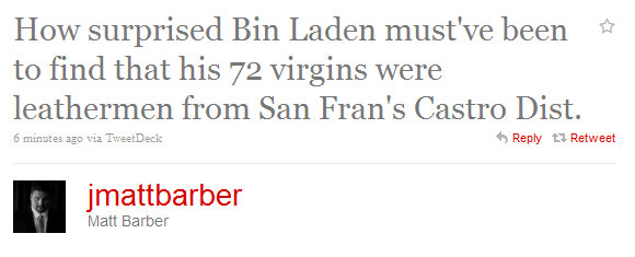 BarberBinLaden In Wake of bin Ladens Death, Matt Barber Still Obsessed With Gays