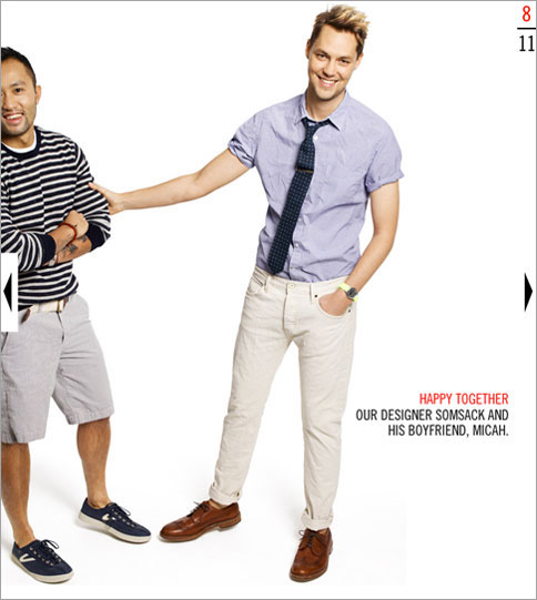 J Crew gay couple 2 J. Crews Online Catalog Still Doing Gay Things