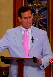 santorum 208x300 Rick Jail the Gays Santorum Shares Mic with Kill the Gays Preacher