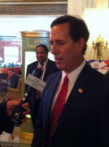 Santorum 224x300 Michele Bachmann Steals the Show at Values Voter Summit; Ugandan Embassy Has Large, Disturbing Party at Values Voter Summit Hotel