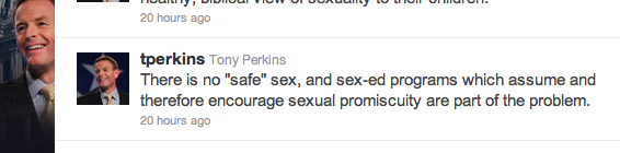 not even for married Fundamentalists Tony Perkins Unsurprisingly Not Very Knowledgeable About Sex