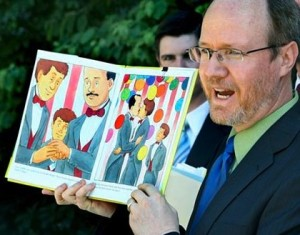 randy thomasson reads gay picture book 300x235 California Wingnut Comments On College Courses He Doesnt Understand