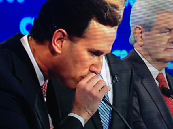 santorumblowingmicrophone Picture Day Continues With Rick Santorum and a Microphone