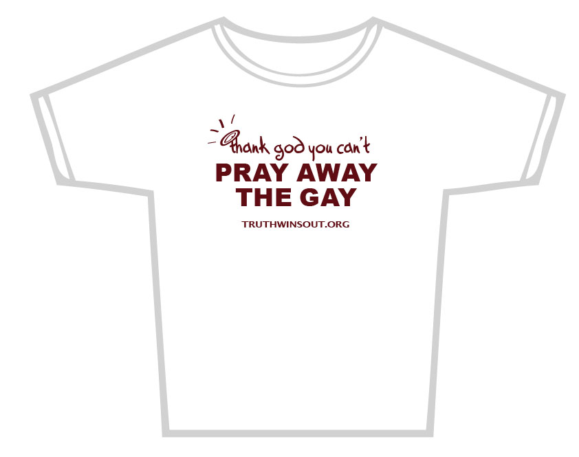 Pray Gay Shirt Ex Gay Conference To Be Debunked in Atlanta on Feb. 16