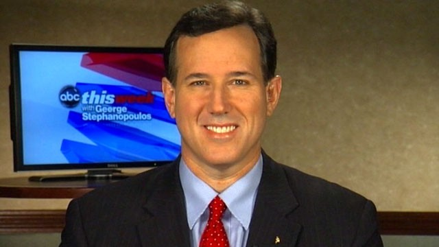 Santorum Smile Is That The Grand Canyon? No, Its Rick Santorums Gender Gap