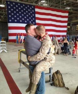 gay marine kiss 249x300 The Wingnut Lack of Self Awareness, Pt. 143,058
