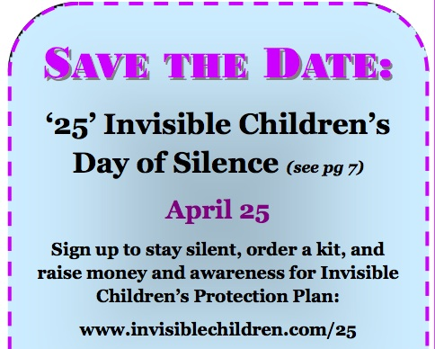dayofsilenceiccopy Invisible Childrens Cover the Night is April 20   on LGBT Day of Silence
