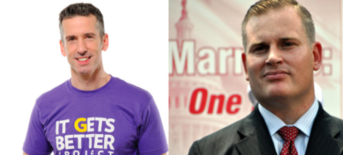 savage brown Dan Savage vs. Brian Brown?