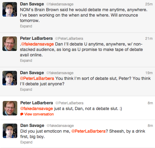 sexytime3 Porno Pete Openly Flirting With Dan Savage On Twitter