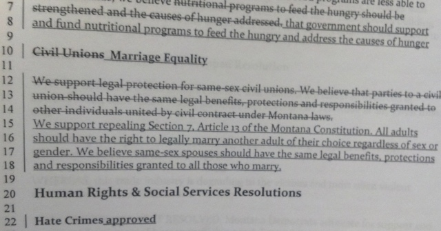 montana Texas and Montana Democratic Parties Add Marriage Equality to Their Platforms