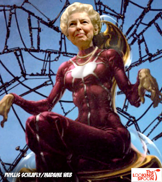 phyllis schlafly madame web For Your Afternoon Entertainment, Here Are Some Conservative Ladies Photoshopped As Superheroes
