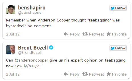 bless their hearts Wingnuts Respond to Anderson Coopers Coming Out Like Thirteen Year Old Boys