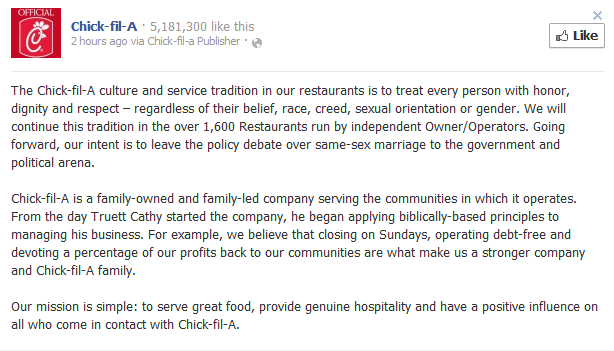 chick fil a Chick Fil A Wants A Do Over Now That People Are Really Turning On Them