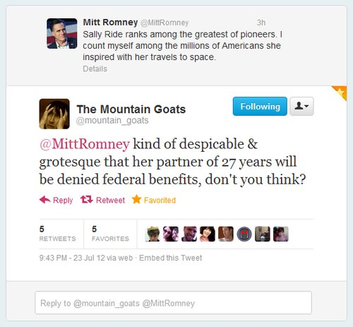 mountain goats Mitt Romney vs. A Really Great Indie Rock Band