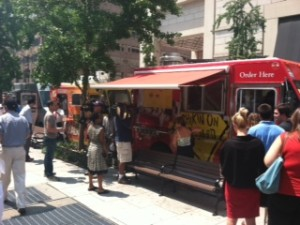 photo 300x225 PHOTOS: HRC Protests Chick Fil A Lunch Food Truck