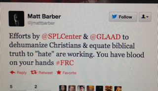 Barber 2 Grotesque: Matt Barber and Bryan Fischer Both Exploit Tragedy