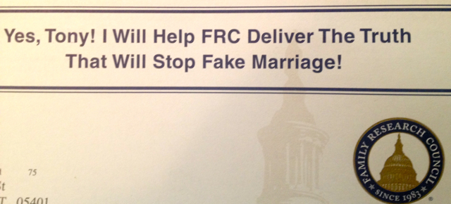 FRC3 FRCs Direct Mail Campaigns Incite Followers Against LGBT People