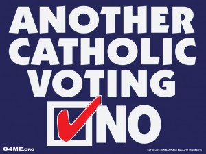 catholic voting no 300x225 Minnesota Catholics Organize to Oppose Marriage Discrimination