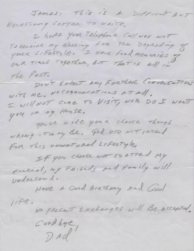 horrible letter 791x1024 This is What Hate Looks Like: Father Cruelly Disowns Son for Coming Out