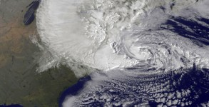 NASA photo of Hurricane Sandy