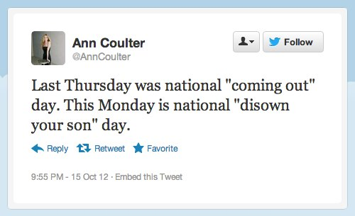 ann coulter tweet What Does Ann Coulter Do When She Needs Attention?