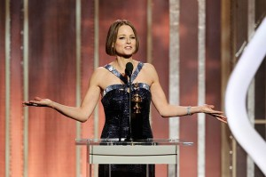 JodieFoster2 620 011313 300x199 Jodie Foster Comes Out At The Golden Globe Awards    Affirming or Annoying?
