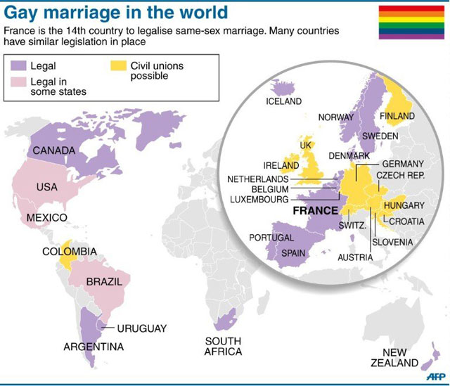 worldgarriage World Marriage Equality Map Illustrates Dying Dreams Of NOM, Others