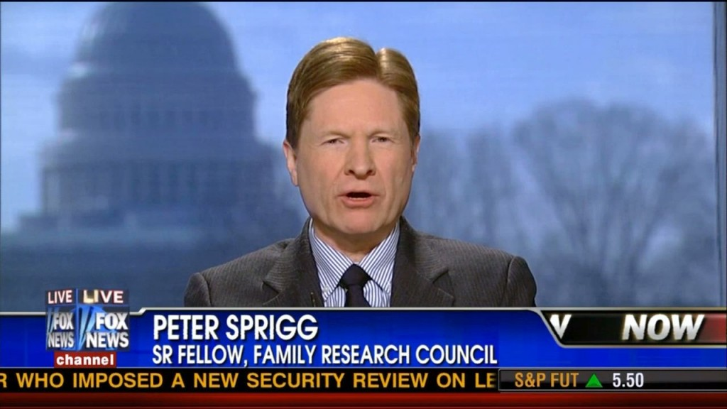 Sprigg 1024x576 Peter Sprigg And The Values Victim Caucus