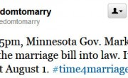 Minnesota Governor Will Sign Marriage Law At 5:00 PM Today!