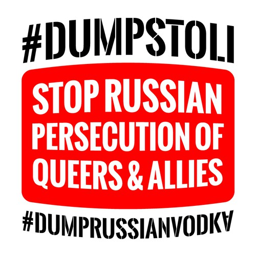 dumprussianvodkalogo Truth Wins Out Urges Boycott Of All Russian Goods, Including Vodka and Caviar