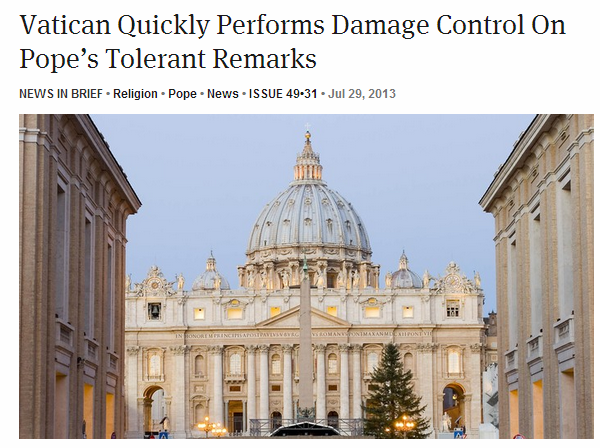 onion Catholic Pundits In Damage Control Mode After Pope Says Something Halfway Nice