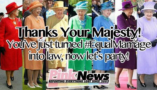 queen Queen Elizabeth Signs Marriage Equality Into Law
