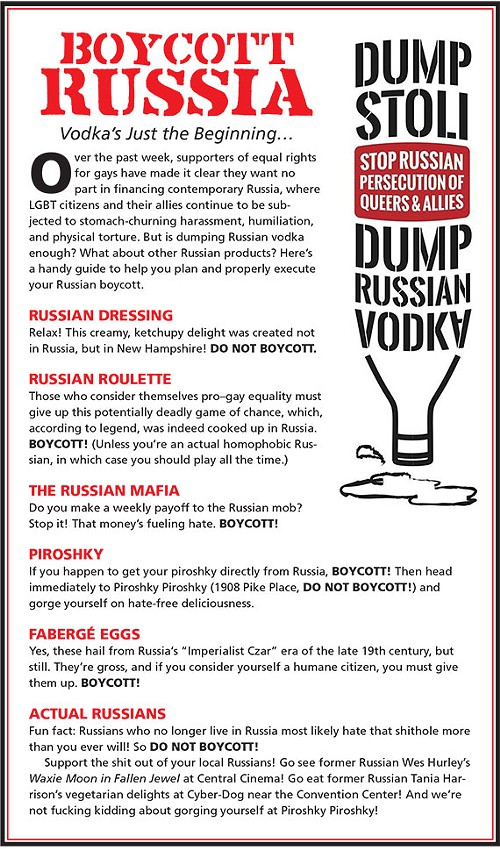russiandressing So, Youre Boycotting Russian Vodka. Do You Have To Boycott The Russian Mafia As Well?