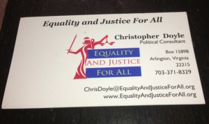 Doyle card 300x179 Ex Gay Activist Christopher Doyles Grand Coalition of One