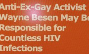 PFOX Sinks To New Low, Claiming Wayne Besen Responsible for Countless HIV Infections