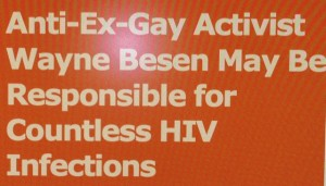 HIV 300x171 PFOX Sinks To New Low, Claiming Wayne Besen Responsible for Countless HIV Infections